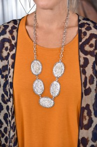 Silver Bling Crystal Necklace
