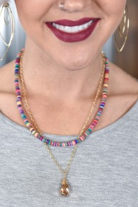 Drop Of Summer Beaded Necklace