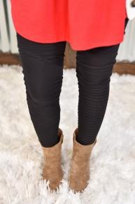 Black Moto Leggings