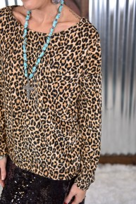 Leopard Corduroy Top