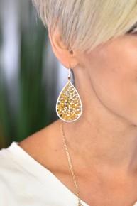 Mustard Dream Weaver Drop Earrings