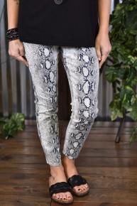 Royalty Grey Snake Ankle Jeans