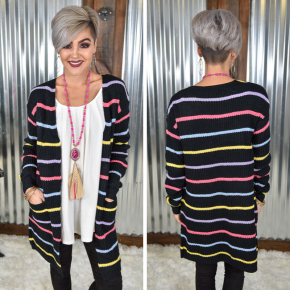 Isa's Striped Cardigan