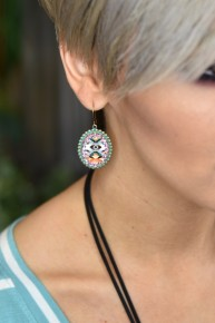 Aztec Turquoise Earrings