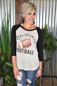 Let's Play Football Raglan