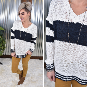 Warm Weekend Popcorn Sweater