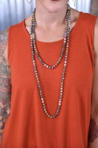 Mocha Glass Beaded Necklace
