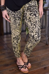 Royalty Tan Cheetah Ankle Jeans