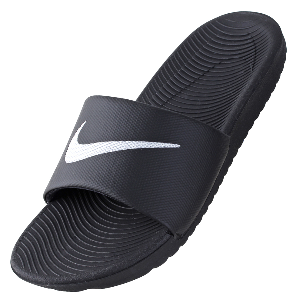 f75e4313b9c726 Nike Men s Kawa Slide Sandal 832646-010 Black White Shoe
