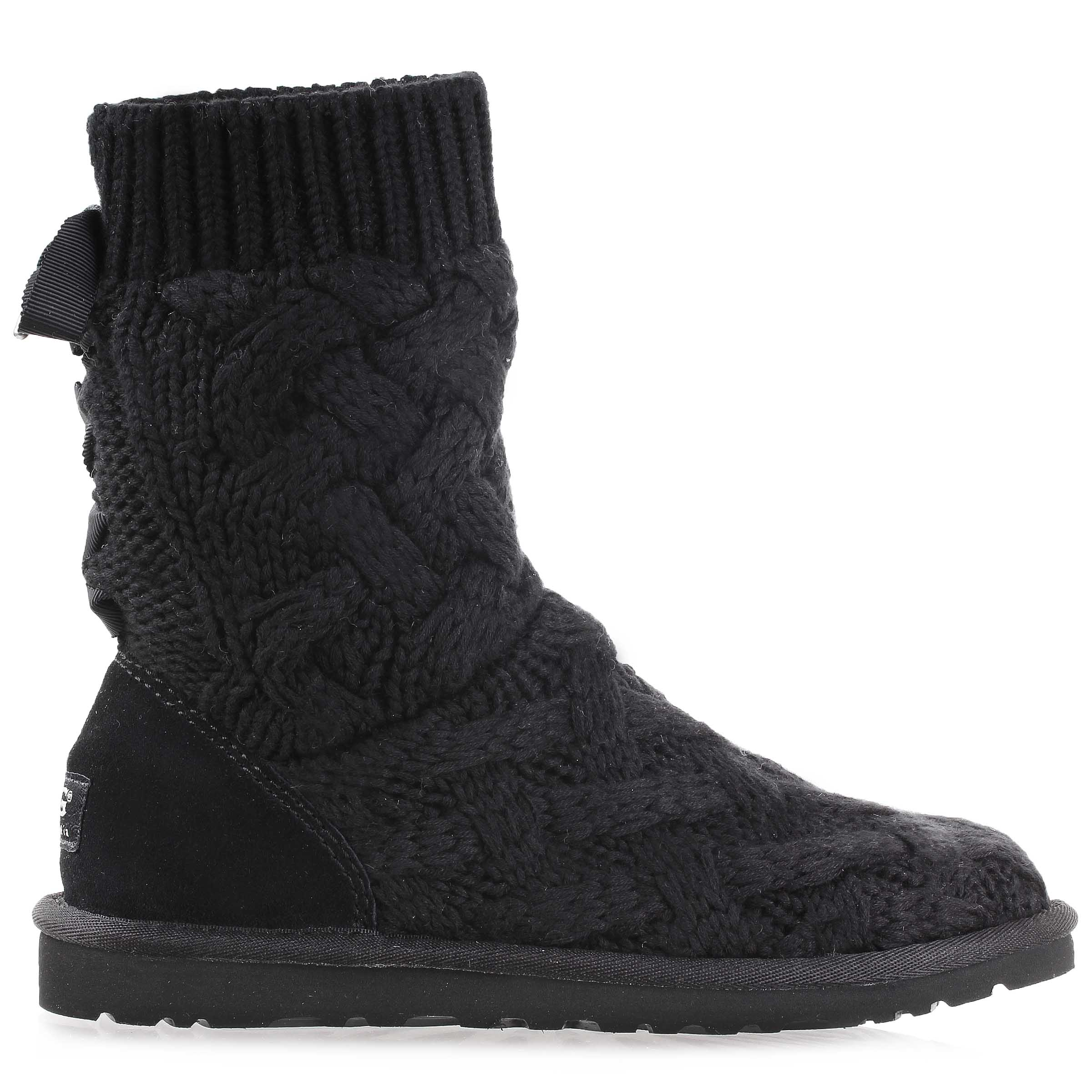 16c5ca98a294 Details about Ugg Australia Womens Isla Knit Boots shoes 1008840W Black