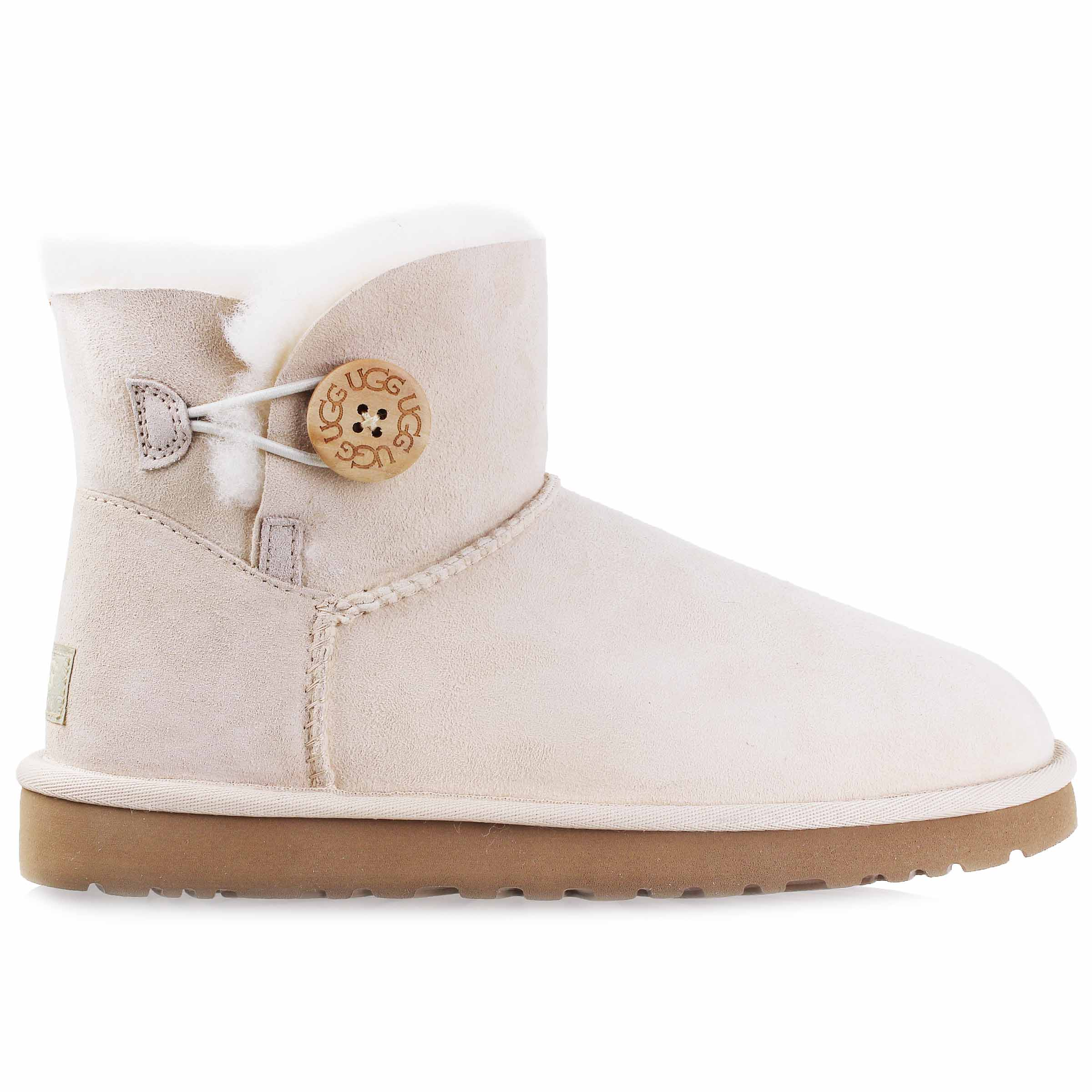 Ugg Femmes Mini Bailey Button Snow Bottes Button Chaussures FSNW 3352 W FSNW Fresh Snow | daa61e9 - radicalfrugality.info