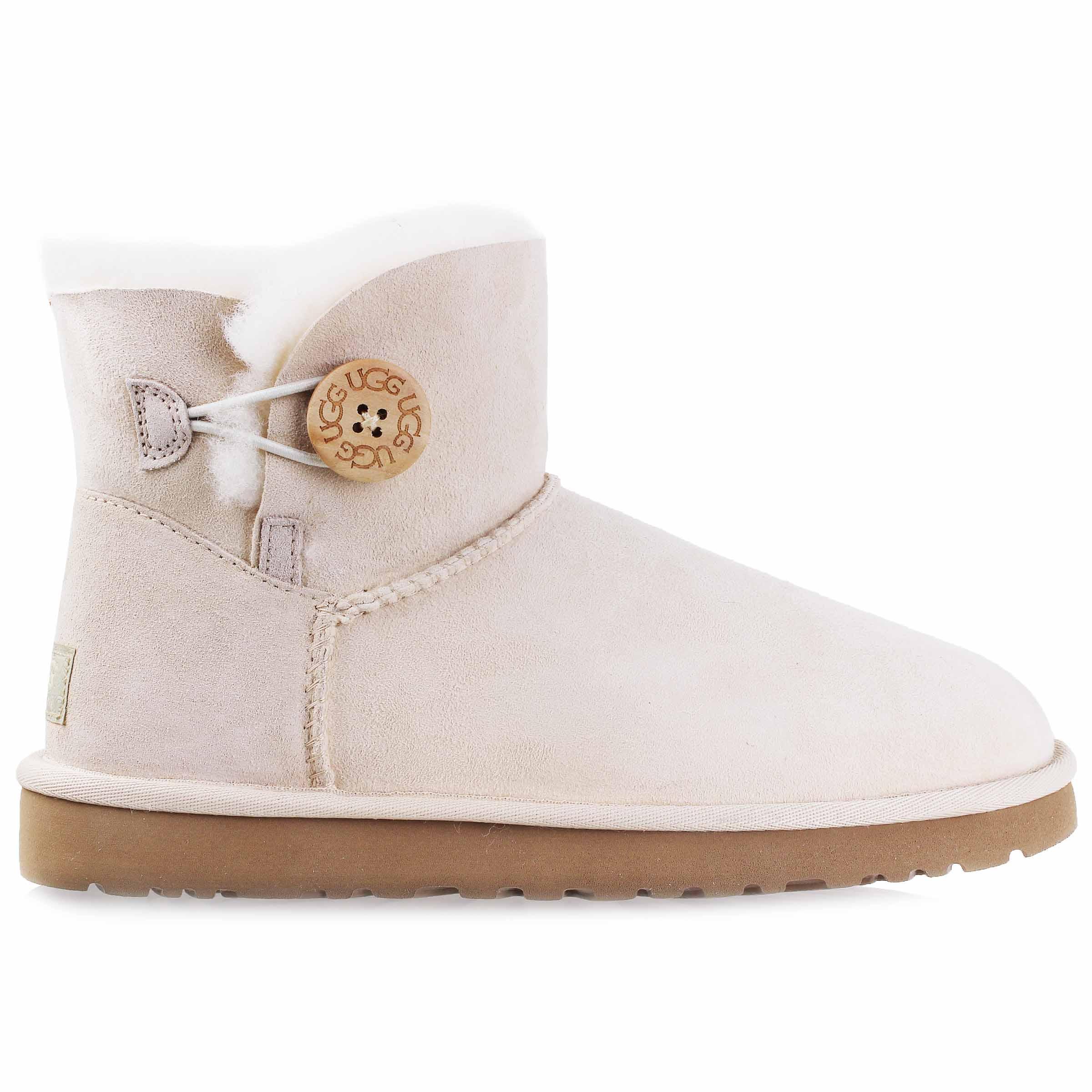 Ugg Femmes Mini Bailey Button Button Bottes Chaussures 4697 3352 W Bailey FSNW Fresh Snow | fd04198 - e7z.info