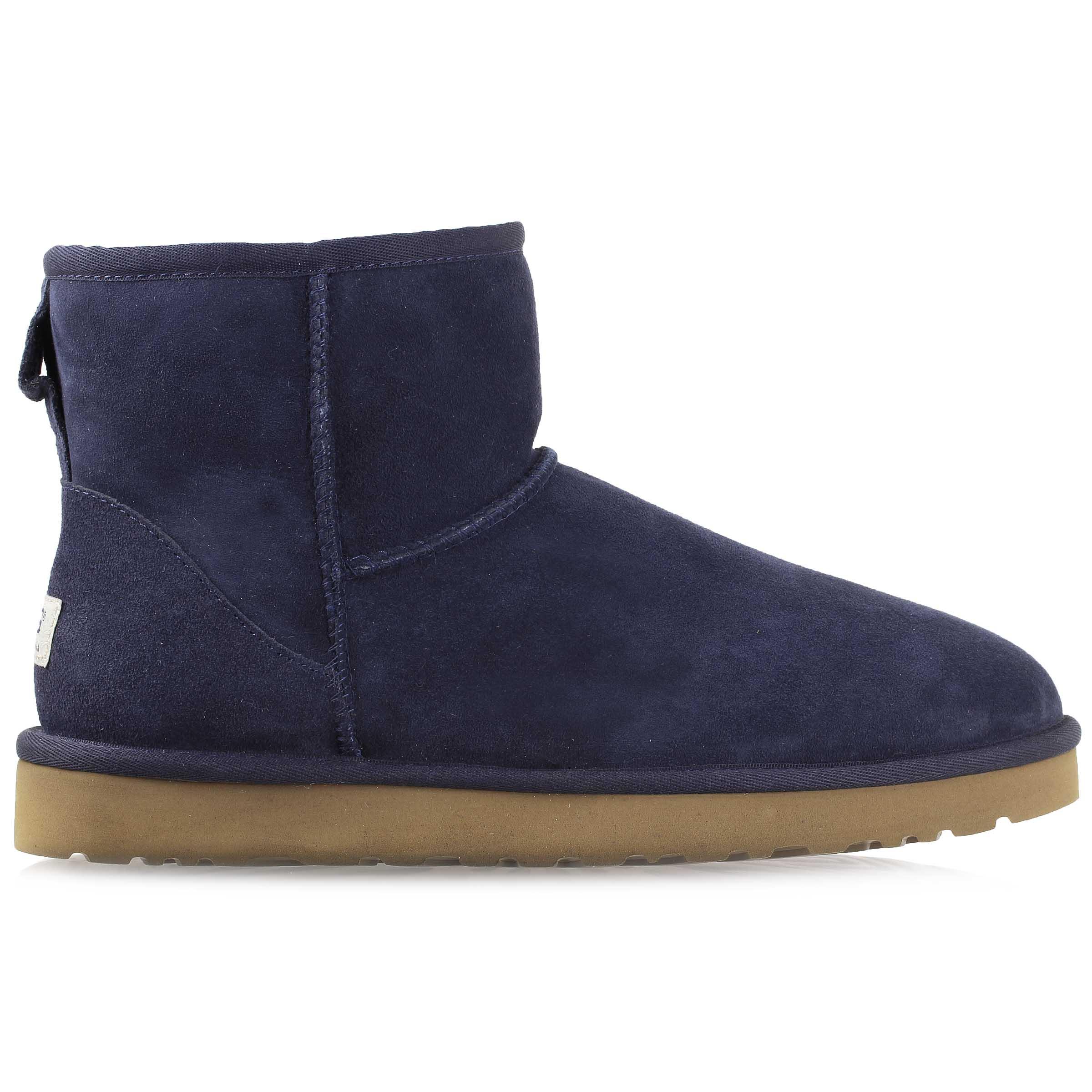 UGG Australia Women\'s Classic Mini Sheepskin Boot Shoes 5854 W-NVY ...