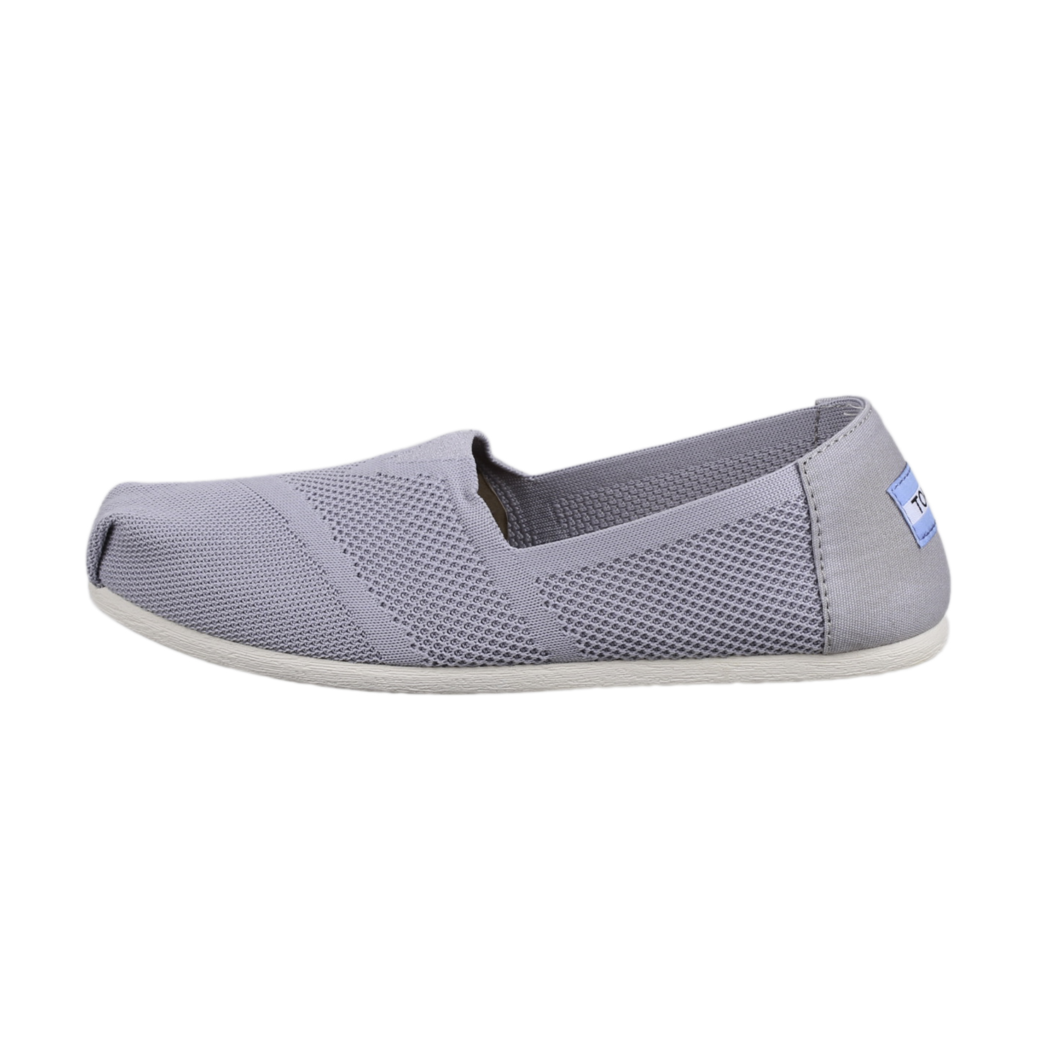 72f04797d54 Details about Toms Women s 10010824 Classic Flat Slip-On Shoes Drizzle Grey  Custom Knit