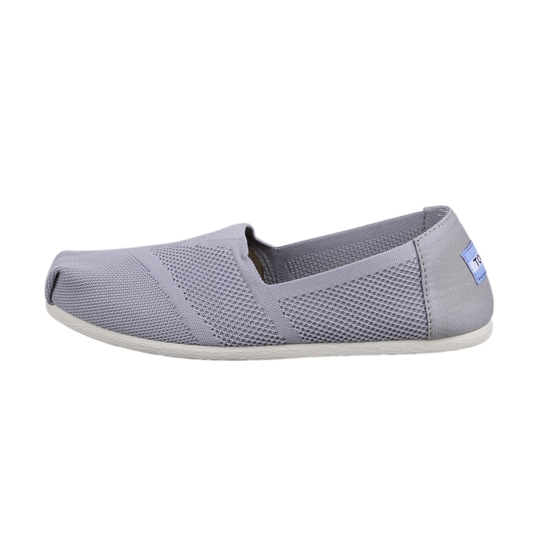 5e257650e6ab4d Details about Toms Women s 10010824 Classic Flat Slip-On Shoes Drizzle Grey  Custom Knit