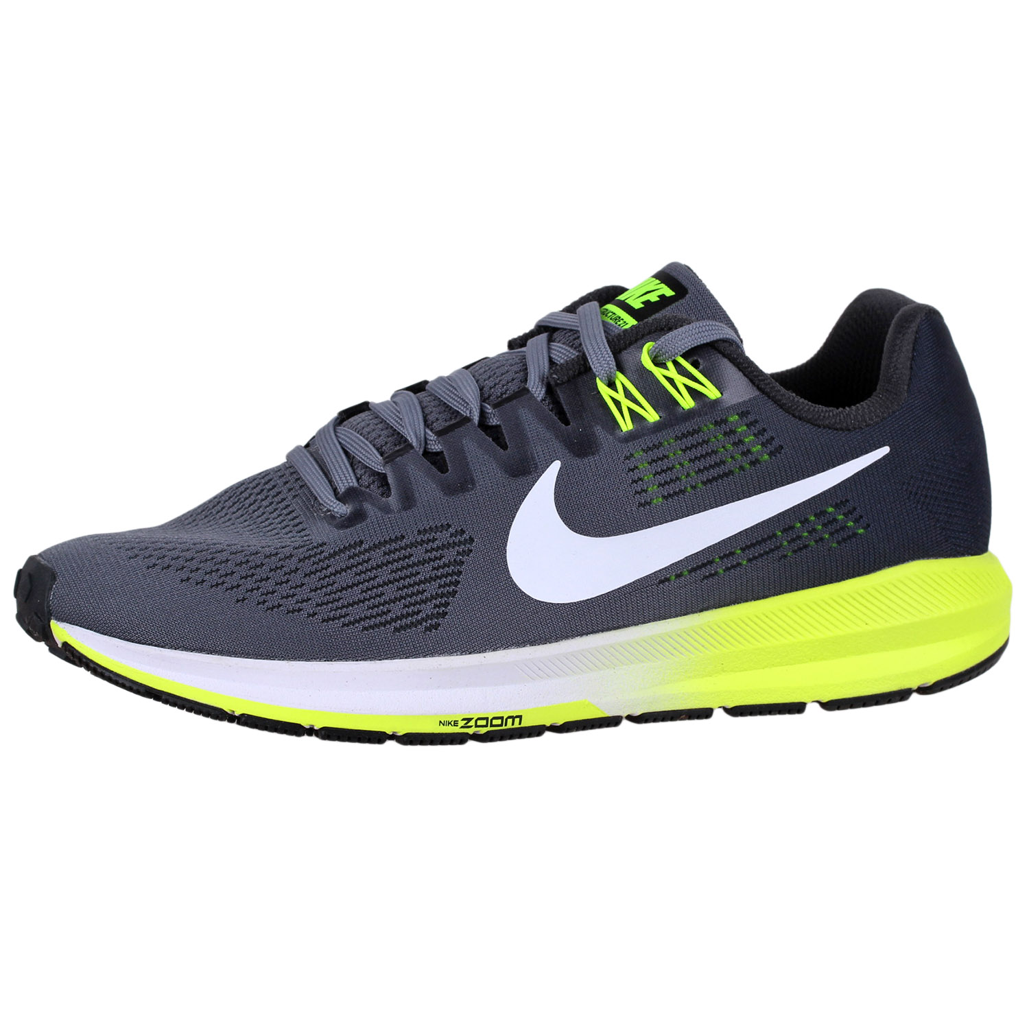 5a4fe9d5b5dc Details about Men s Nike Air Zoom Structure 21 Running Shoes 904695 Grey 8