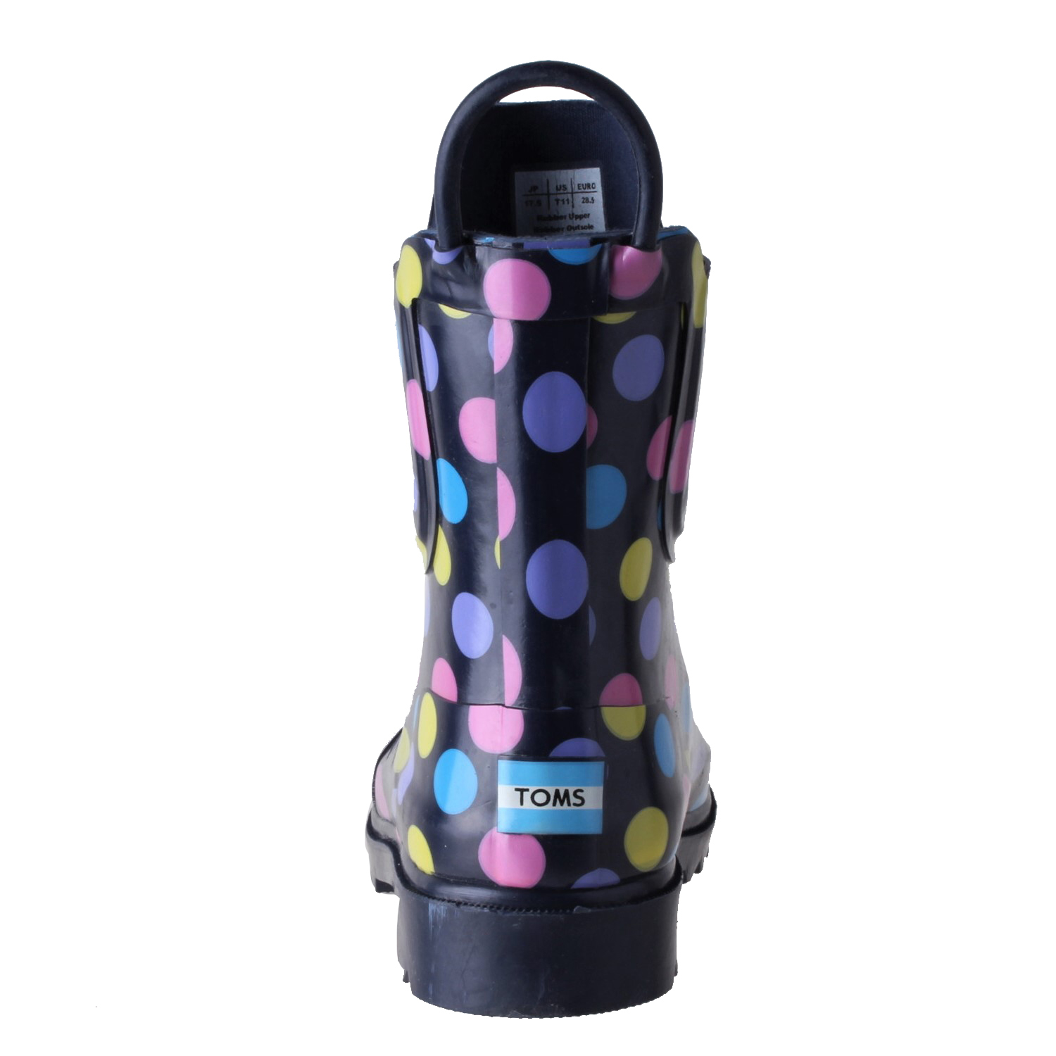Toms Girls Rain Boot Shoes Multi Dot Rubber 10003609 Size 11 886468731225 Ebay