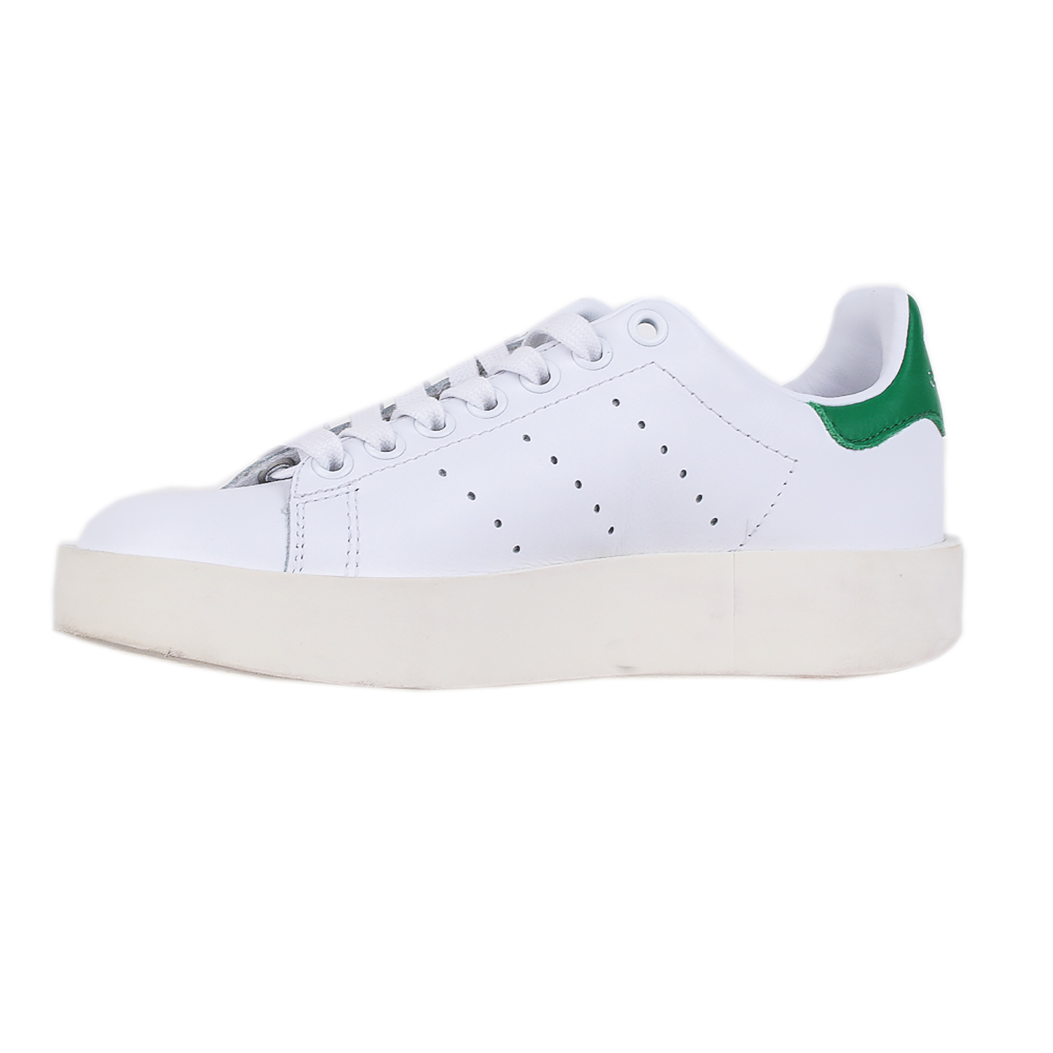 size 40 8df07 854de Details about Adidas Womens Stan Smith Bold Shoes S32266 White Sz 5 W