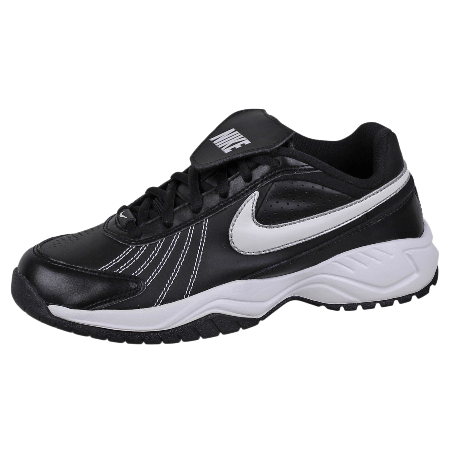Details about Nike Air Mens Diamond Trainer Baseball Shoes 333785 Black White  size 4.5 321029c64