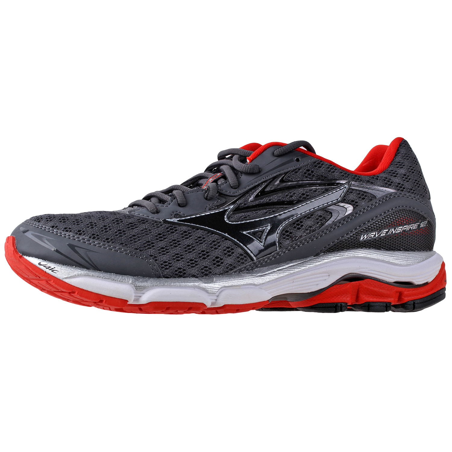 cd7f92da65a1 Details about Mizuno Men's Wave Inspire 12 Running Shoes 410743 Red/Black/ White/Grey