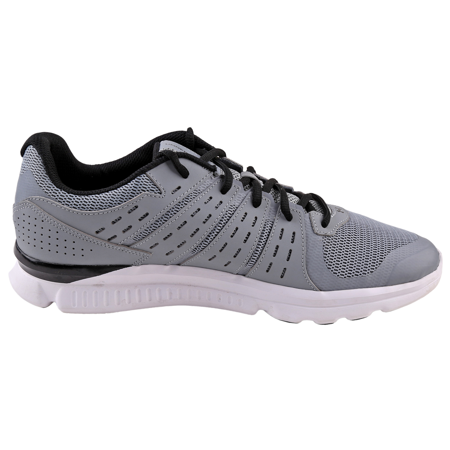 8bd0b95986d91 Under Armour Mens Micro G Speed Swift Run Shoes 1266208 Steel Black White 13