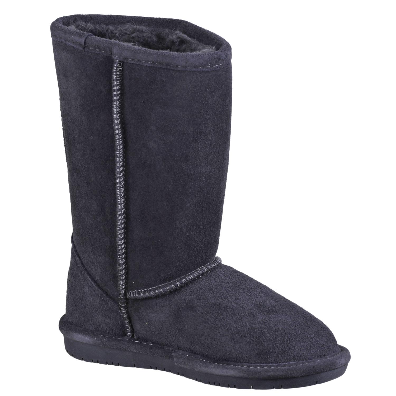 Kids Bearpaw Emma Tall 618Y-011 Suede Black II 100/% Authentic Brand New