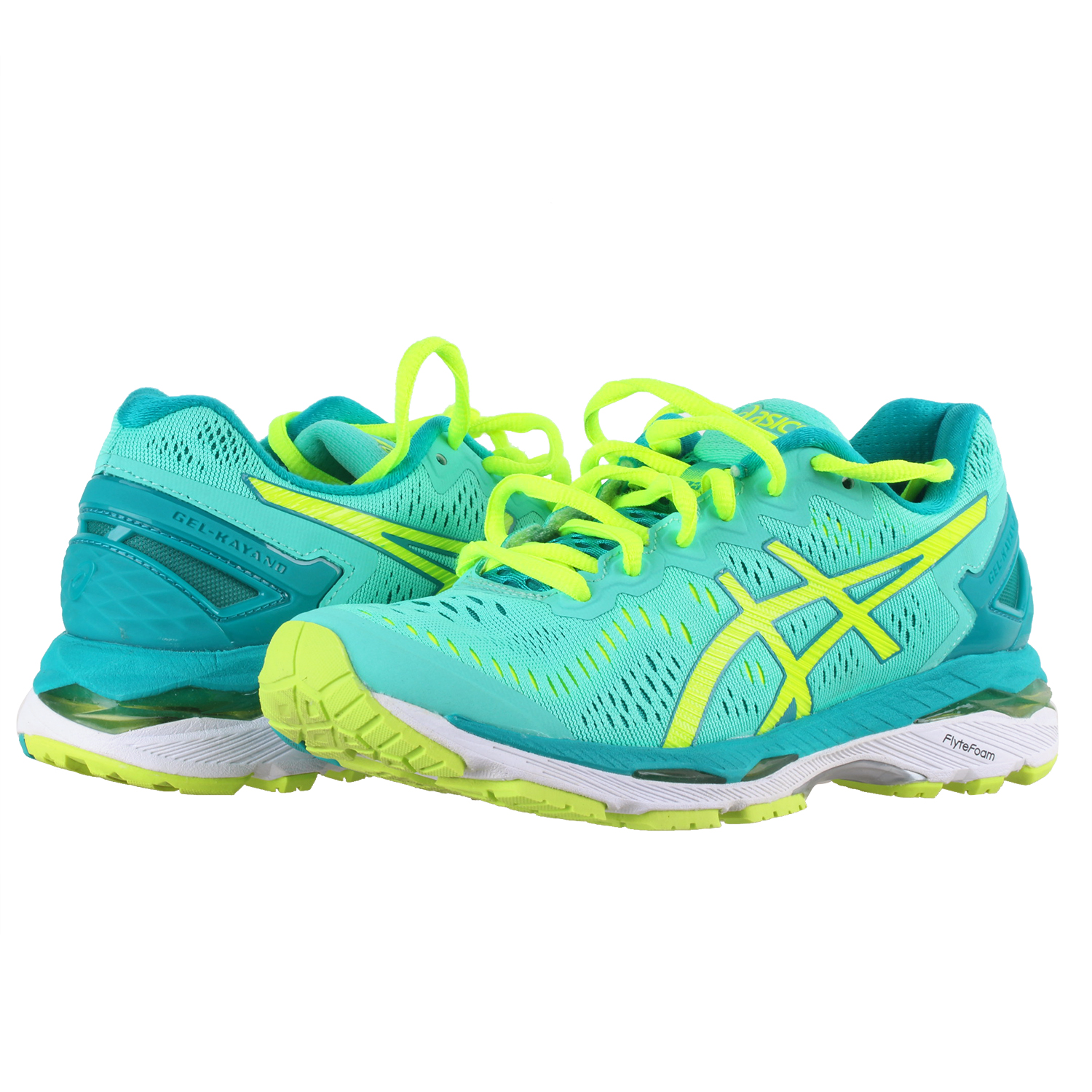 finest selection 8cde1 d00f1 Details about ASICS Women's Gel-Kayano 23 Running Shoes Cockatoo/Safety  Yellow/Lapis 6.5