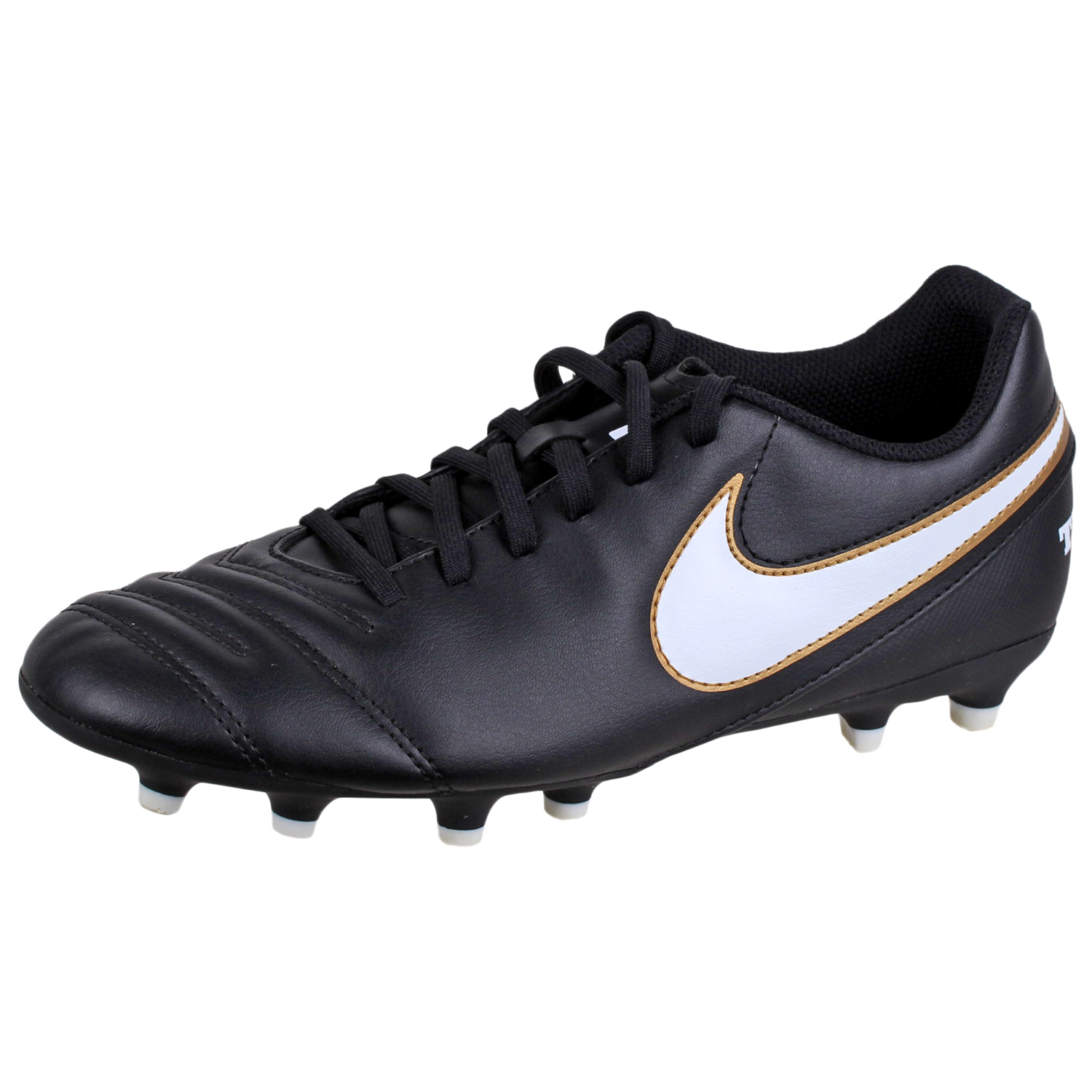 info for 4952c ed032 Details about Nike Mens Tiempo Rio III FG Soccer Cleat Shoe Black White 7.5