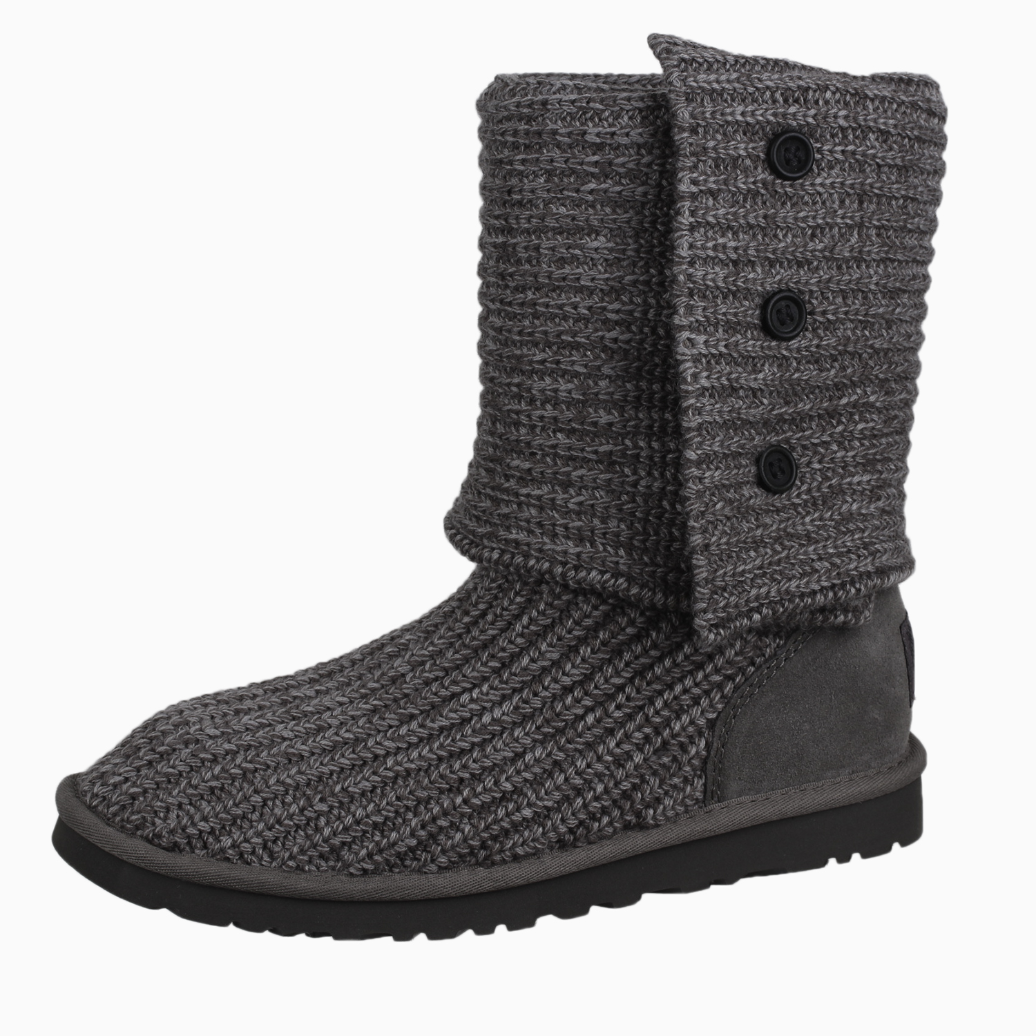 9aecc49b9c5 Details about UGG Australia Women's Classic Cardy Knit Sheepskin 5819W Boot  Shoes Grey