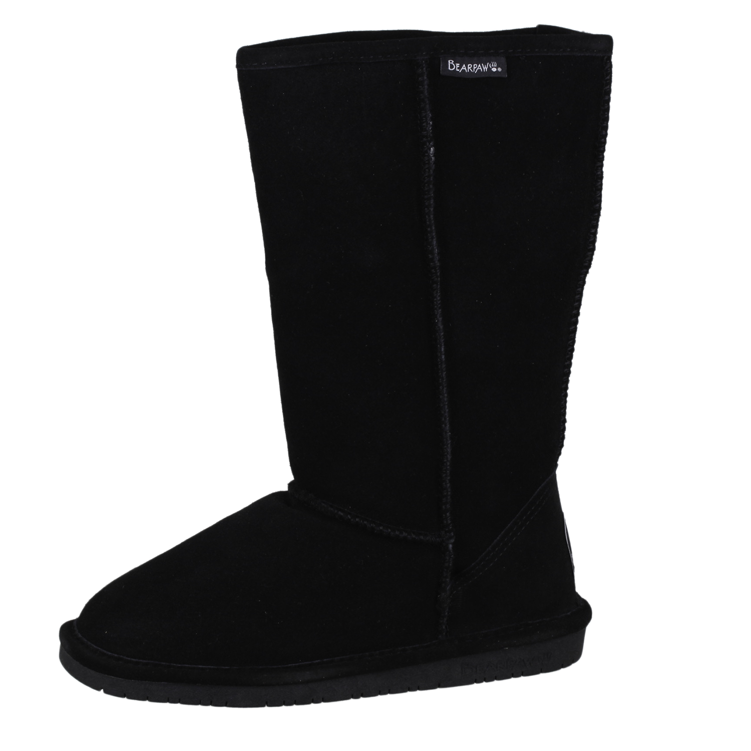 d169e3e0a655 Details about Bearpaw Women s Emma Tall Winter Boot Shoes 612W Black size 7