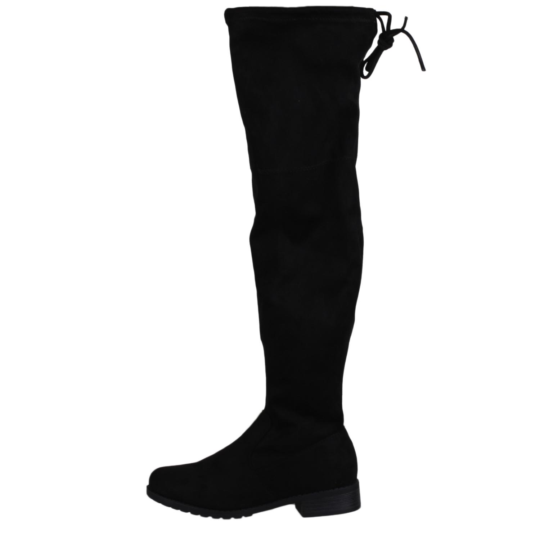 c3c2dedaf20 Details about Forever Link Women s Boot Shoes JALEN-H4 Black 6