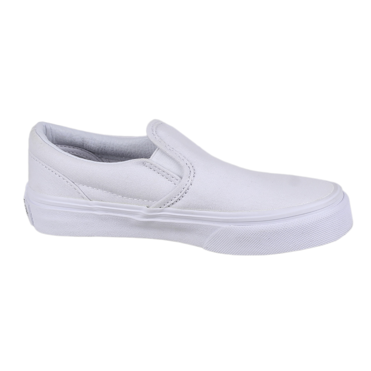 f11c49f0ea Details about Vans Kids Classic Slip-On Skate Shoes VN-0ZBUENS True White 13