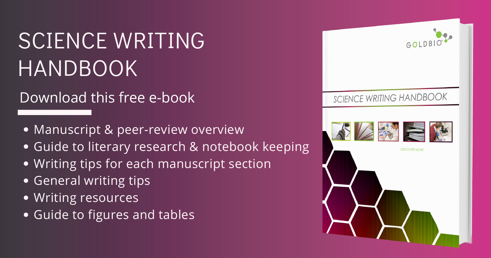 Science Writing Handbook - resource for your scientific research manuscript - free download