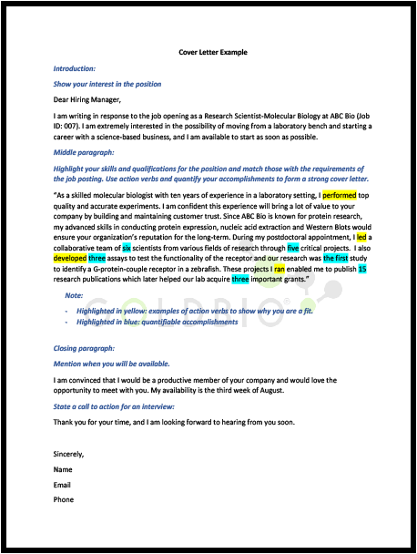 Postdoc S Guide To Mastering Your Cv Resume And Cover Letter Goldbio