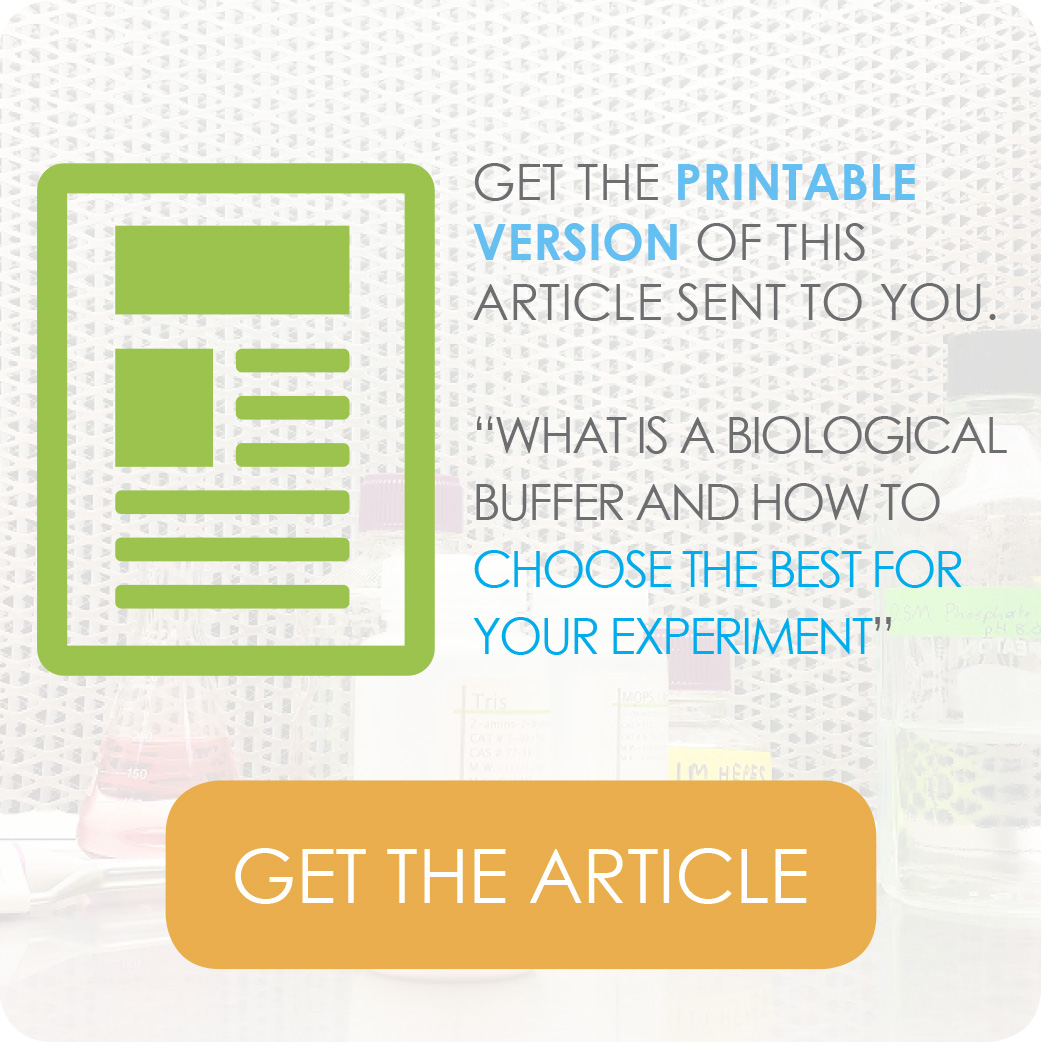 how to choose the right biological buffer for your research experiment