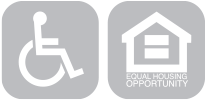 wheelchair accessibility and equal housing logo