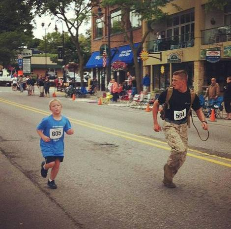 Marine helps boy