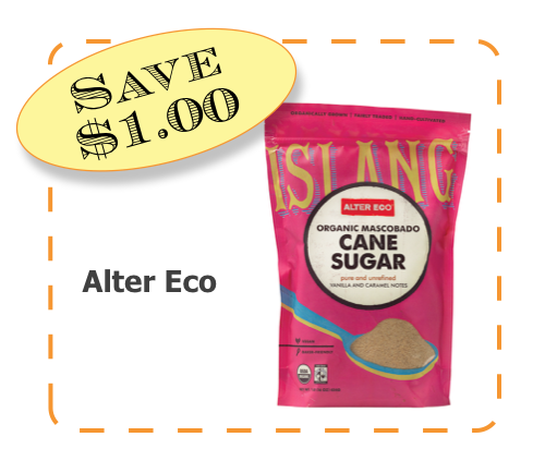 Alter Eco Cane Sugar Non-GMO CommonKindness coupon