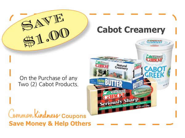 Cabot Creamery CommonKindness coupon