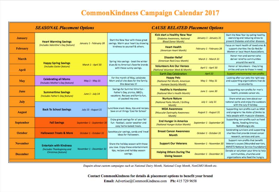 Campaign Calendar 2017