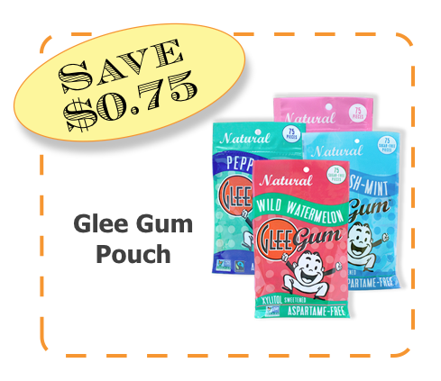 Glee Gum Non_GMO CommonKIndness Pouch coupon