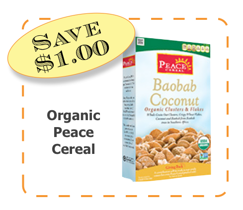Organic Peace Cereal Non-GMO CommnKindness Cereal coupon
