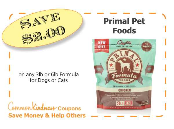 Primal Pet Food CommonKindness Coupon