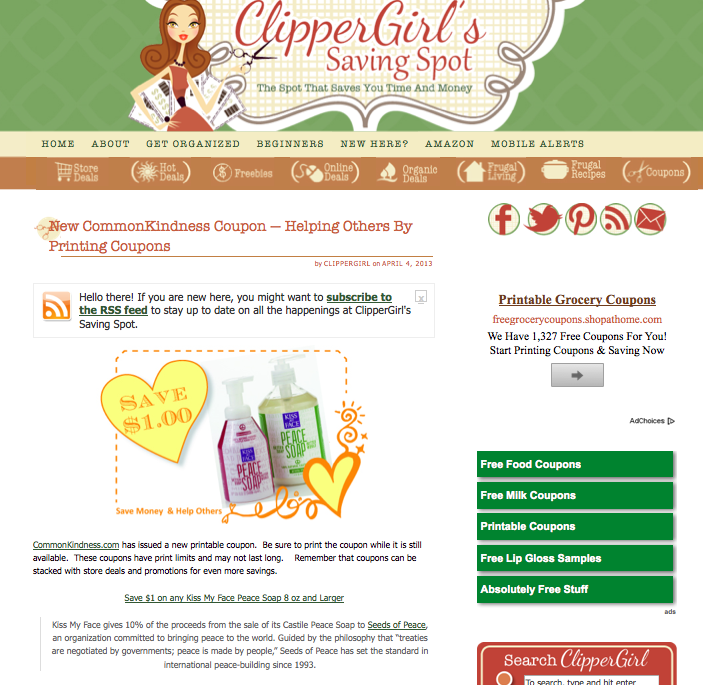 ClipperGirl Partner in Kindness