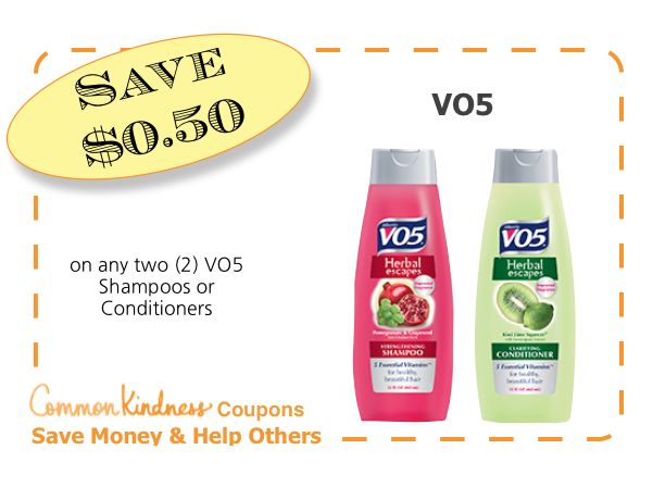VO5 CommonKindness coupon
