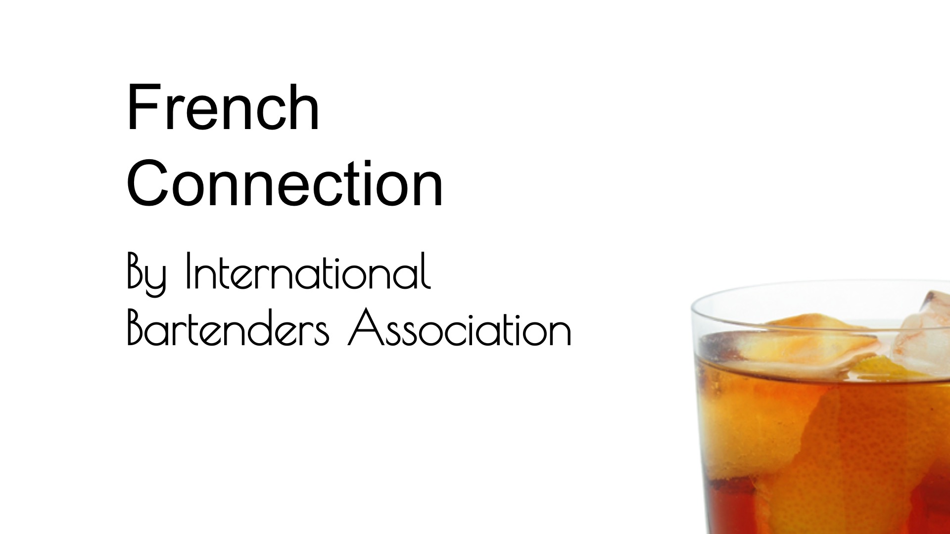 Video for French Connection (IBA) from Commonwealth Cocktails