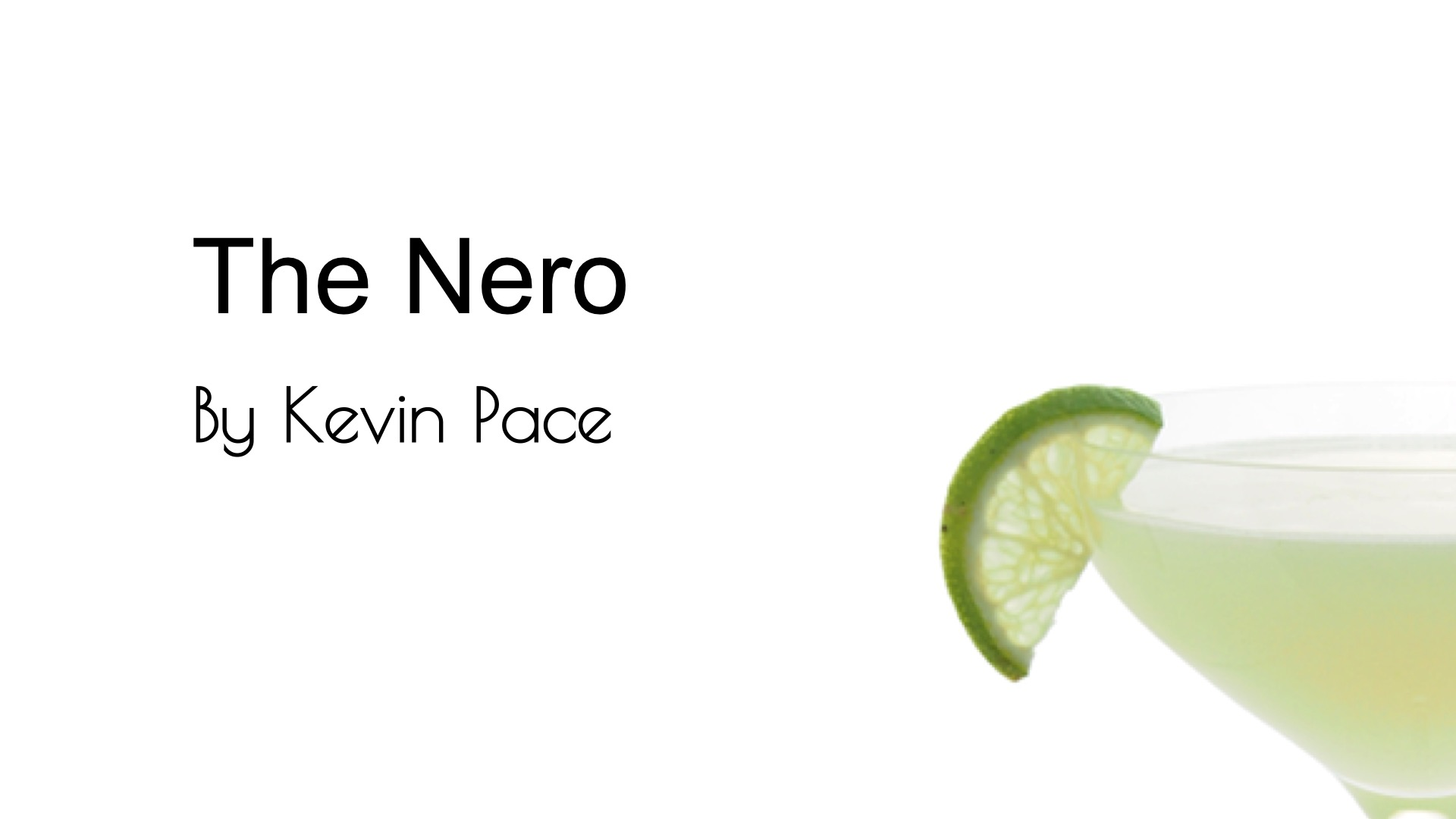 Video for The Nero from Commonwealth Cocktails