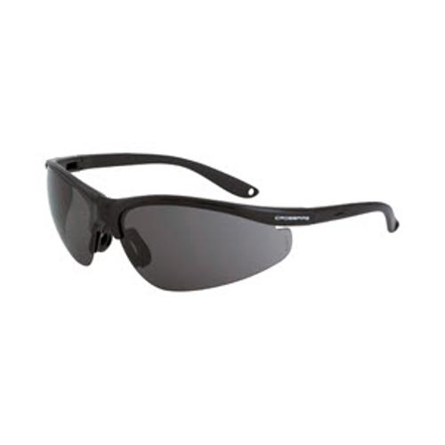 Radians Crossfire Brigade Performance Safety Glasses - Matte Black Frame/Smoke Lens