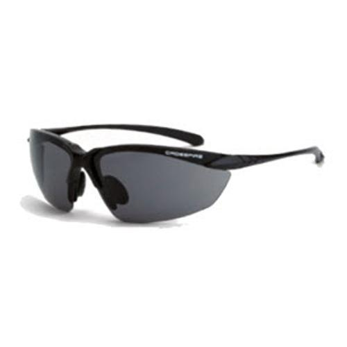Radians Crossfire Sniper Safety Glasses - Shiny Black Frame/Smoke 2.5 Lens