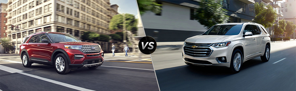 2020 Ford Explorer vs 2020 Chevrolet Traverse